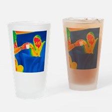 Hot drink, thermogram Drinking Glass