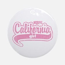 """100% California Girl"" Ornament (Round)"