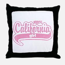 """""""100% California Girl"""" Throw Pillow"""