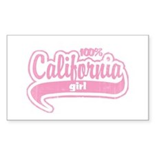 """100% California Girl"" Rectangle Decal"