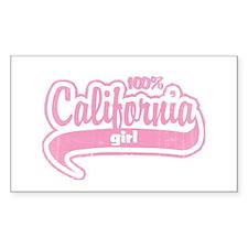 """100% California Girl"" Rectangle Decal"