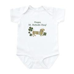 Happy St. Patrick's Dachshund Infant Bodysuit