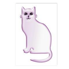 Violet Cat Postcards (Package of 8)