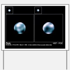 Hubble Space Telescope images of Pluto Yard Sign
