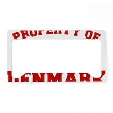 Property Of Denmark Design License Plate Holder