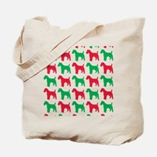 Schnauzer Christmas or Holiday Silhouette Tote Bag