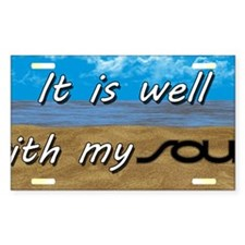 Well With My Soul Beach Stickers