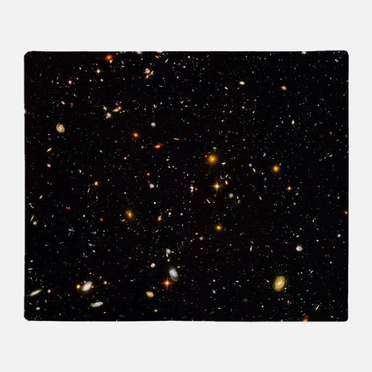 Hubble Ultra Deep Field galaxies Throw Blanket