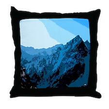 Sun on Mountains Throw Pillow
