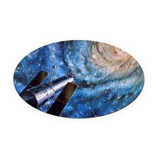 Hubble Telescope Oval Car Magnet