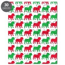 Bulldog Christmas or Holiday Silhouette Puzzle