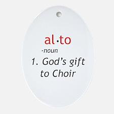 Alto Definition Ornament (Oval)