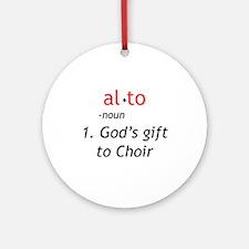 Alto Definition Ornament (Round)