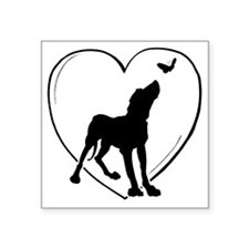 """Dog  Butterfly Square Sticker 3"""" x 3"""""""