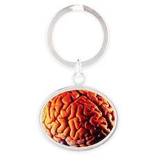 Human brain Oval Keychain