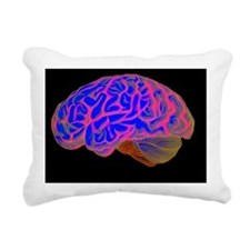 Human brain Rectangular Canvas Pillow