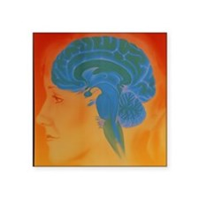 "Human brain Square Sticker 3"" x 3"""
