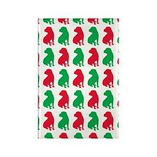 Shar Pei Christmas or Holiday Sil Rectangle Magnet