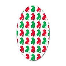 Shar Pei Christmas or Holida 35x21 Oval Wall Decal