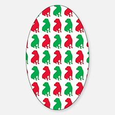 Shar Pei Christmas or Holiday Silho Decal