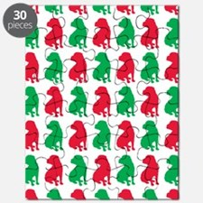 Shar Pei Christmas or Holiday Silhouette Puzzle