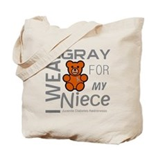 I Wear Gray for my Niece Juvenile Diabete Tote Bag