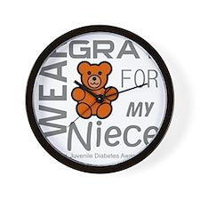 I Wear Gray for my Niece Juvenile Diabe Wall Clock