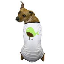 Cute green bird Dog T-Shirt