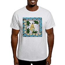 Bobby Socks 1950's Collage Ash Grey T-Shirt
