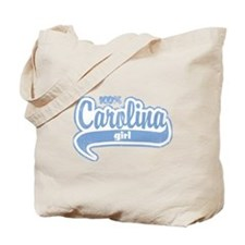 """100% Carolina Girl"" Tote Bag"