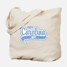 """100% Carolina Girl"" Tote Bag"