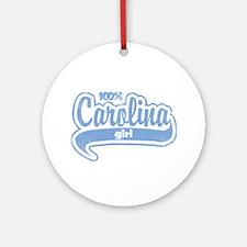 """100% Carolina Girl"" Ornament (Round)"