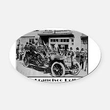 Old San Francisco PD Oval Car Magnet