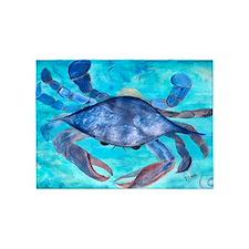 Blue Crab 5'x7'Area Rug