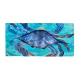 Blue crab Beach Towels