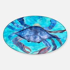 Blue Crab Sticker (Oval)