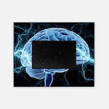 Human brain, conceptual artwork Picture Frame