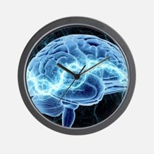 Human brain, conceptual artwork Wall Clock