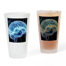 Human brain, conceptual artwork Drinking Glass
