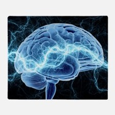 Human brain, conceptual artwork Throw Blanket