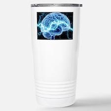 Human brain, conceptual Stainless Steel Travel Mug