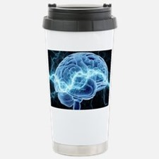 Human brain, conceptual Travel Mug