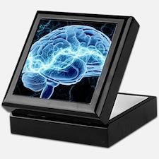 Human brain, conceptual artwork Keepsake Box