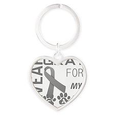 I wear gray for my cat pet diabetes Heart Keychain