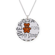 I Wear Gray for my Sister Ju Necklace Circle Charm