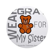 I Wear Gray for my Sister Juvenle D Round Ornament