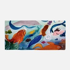Mermaid  Tropical Fish Party Beach Towel