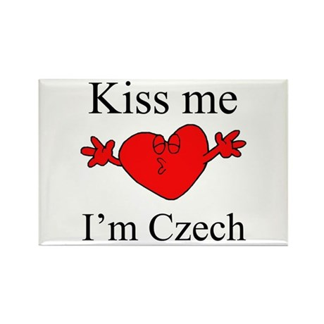 Kiss Me I'm Czech Rectangle Magnet (10 pack)