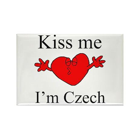 Kiss Me I'm Czech Rectangle Magnet