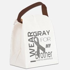 I wear gray for my brother Diabet Canvas Lunch Bag